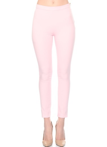 House Of Camellia Slim Fit Pantolon Pembe